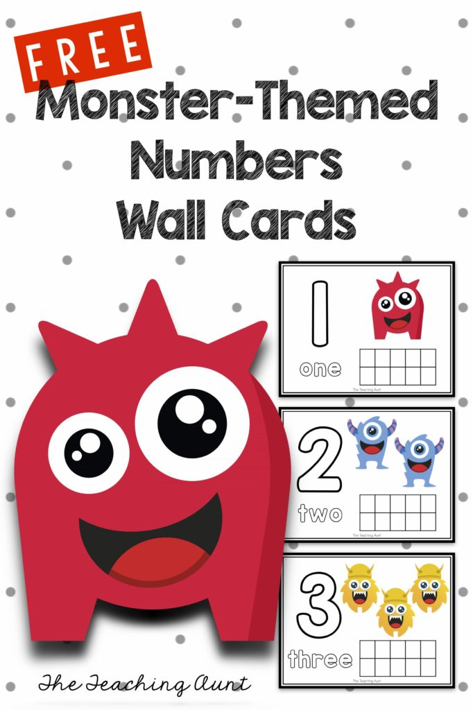 Free Numbers Play Dough Mats