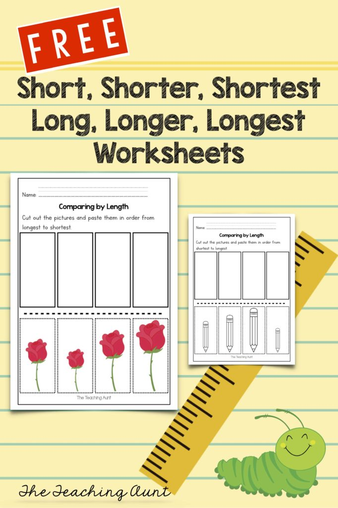 Free Comparing Lengths Worksheets