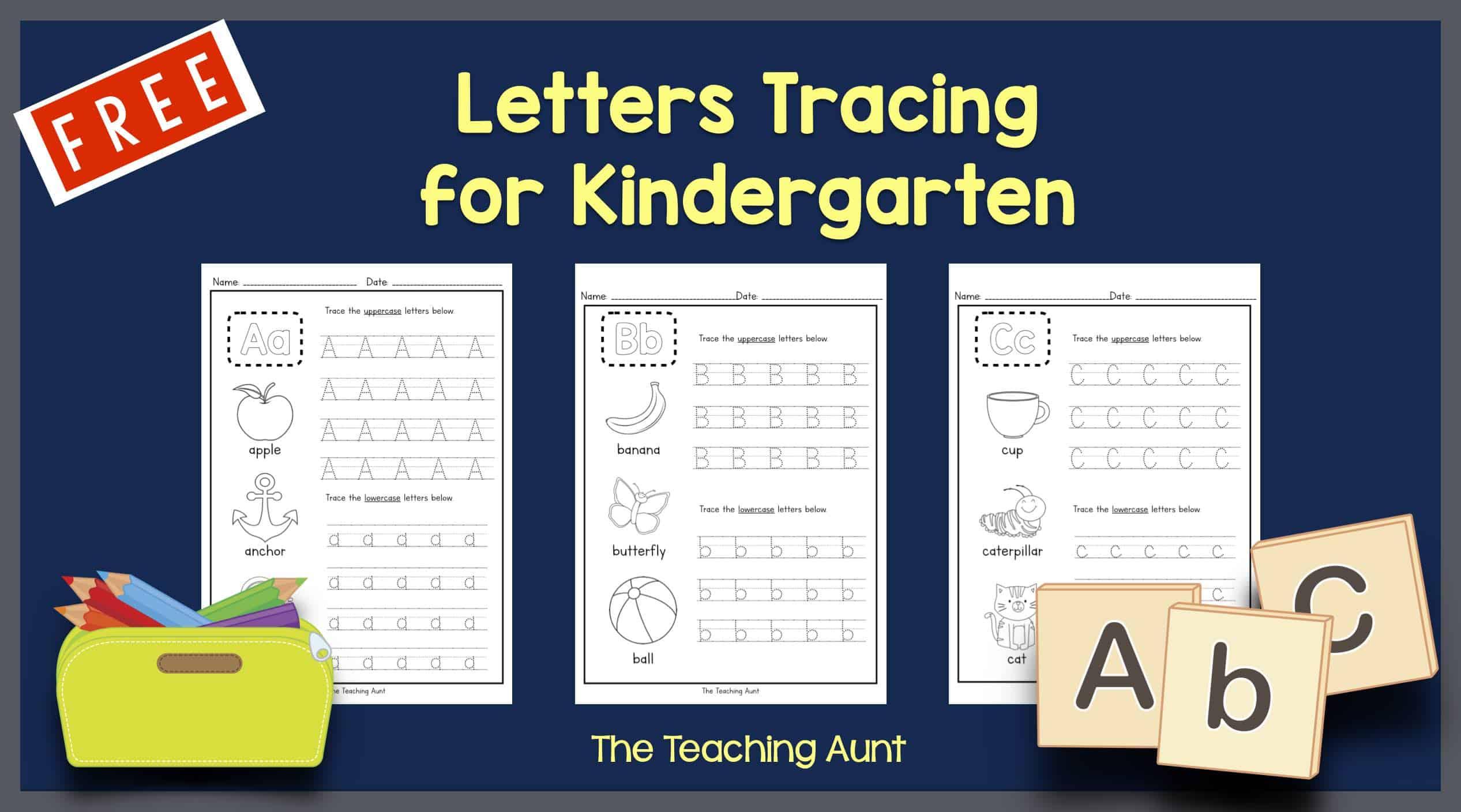 Letters Tracing for Kindergarten