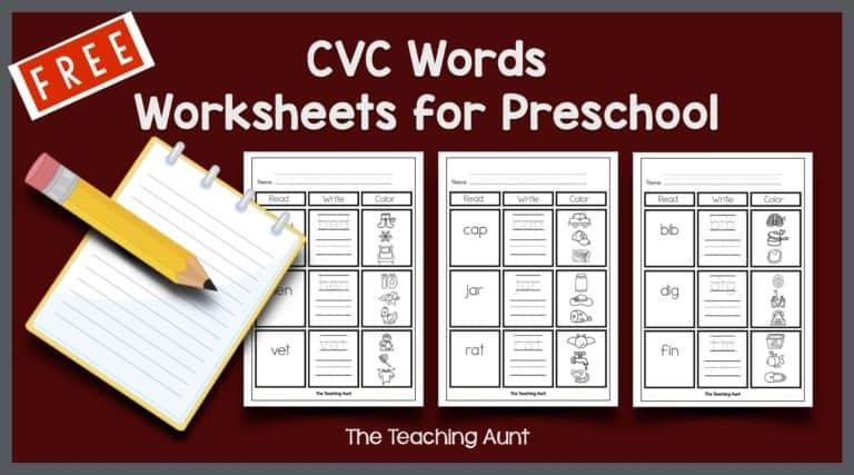 Free CVC Words Worksheets for Preschool