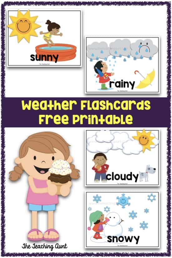 Weather Flashcards Free Printable