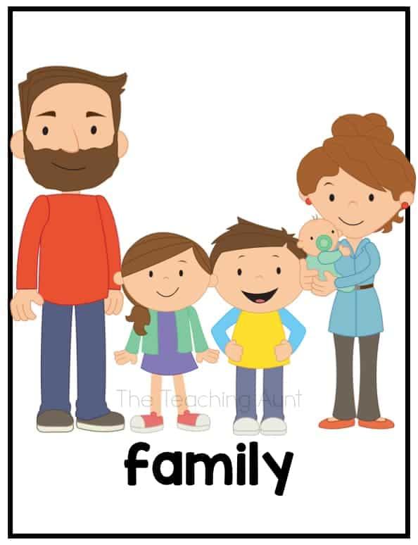 Free Family Flashcards PDF- Family
