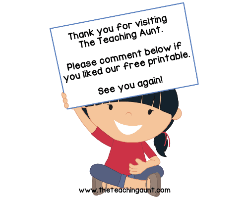 Thank you for visiting The Teaching Aunt