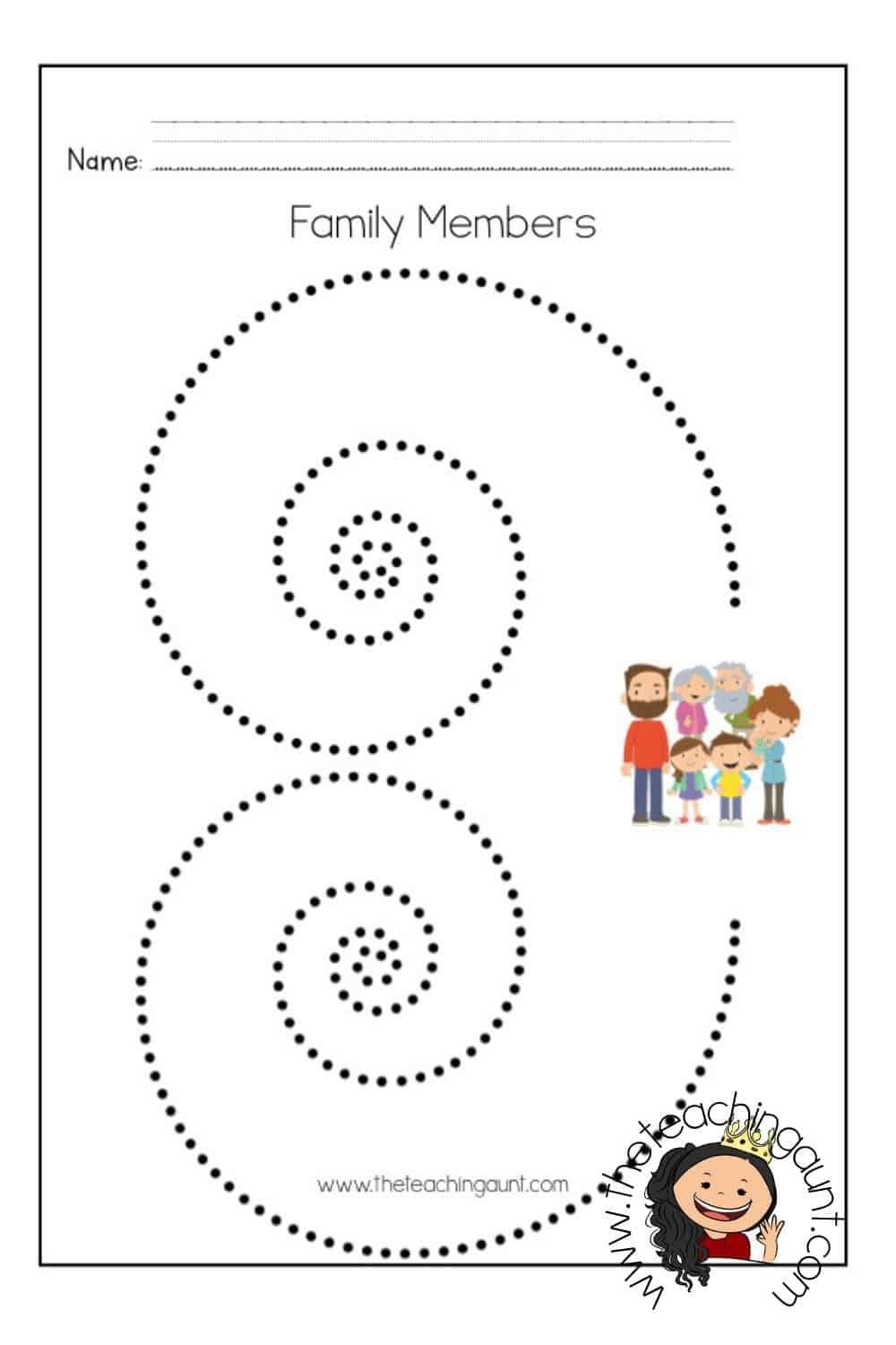 Members of the Family Tracing Worksheets Page 5