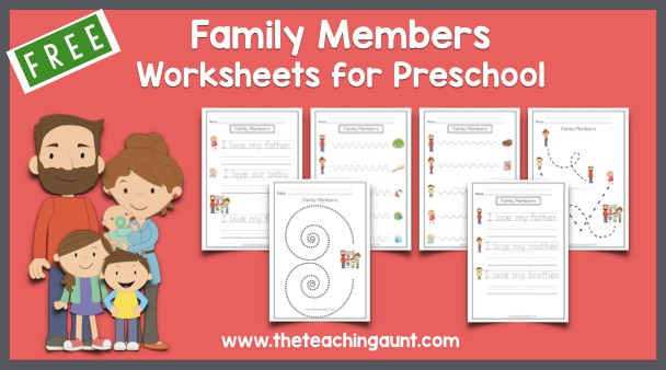 Members of the Family Tracing Worksheets for Preschool