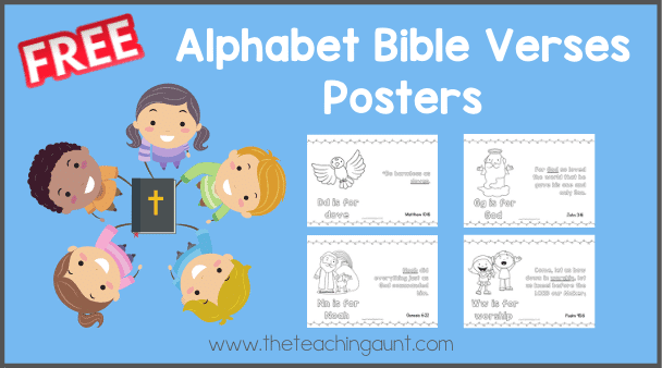 Free Alphabet Bible Verse Posters from The Teaching Aunt