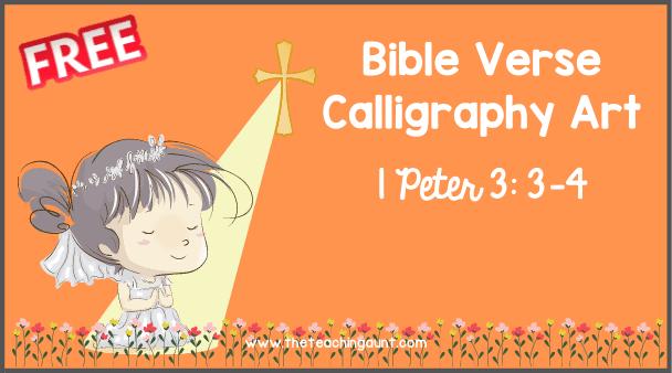 Bible Verse: 1 Peter 3:3-4