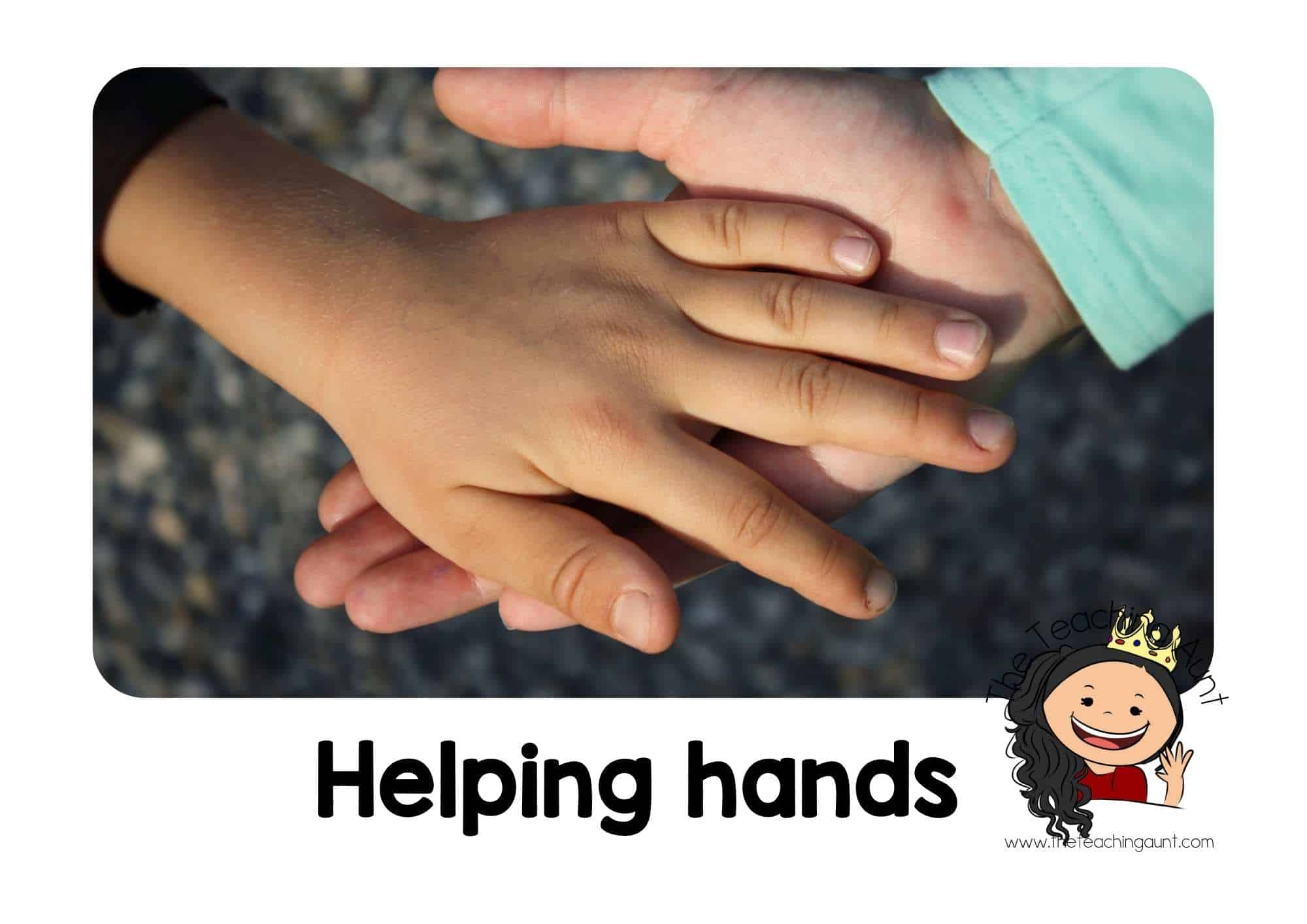 Free Classroom Rules Posters for Preschool- Helping Hands