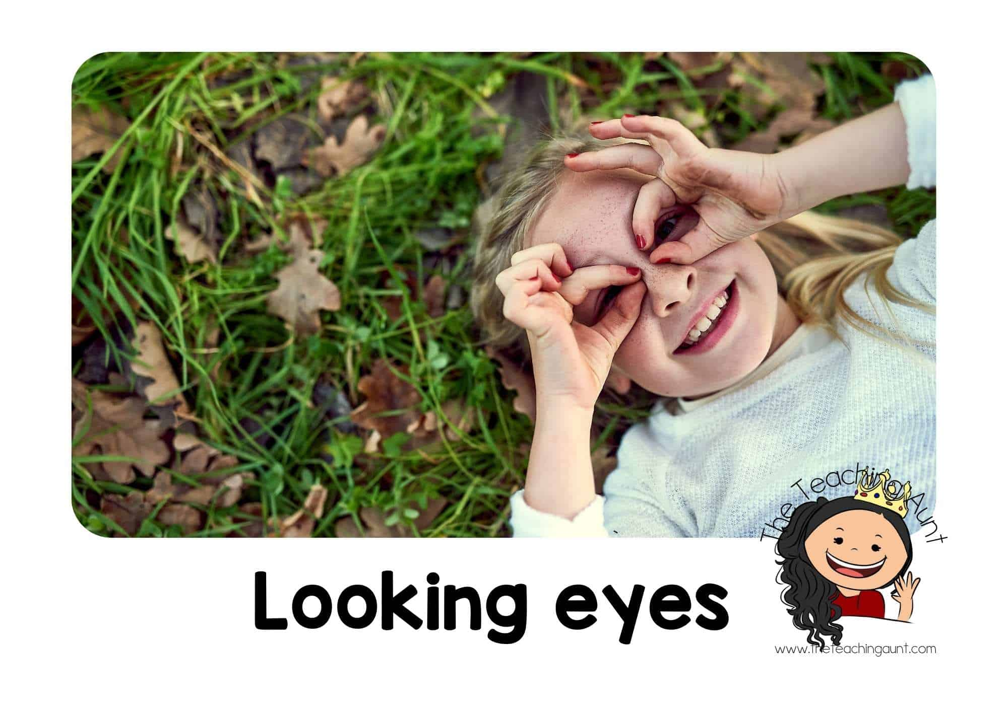 Free Classroom Rules Posters for Preschool- Looking eyes
