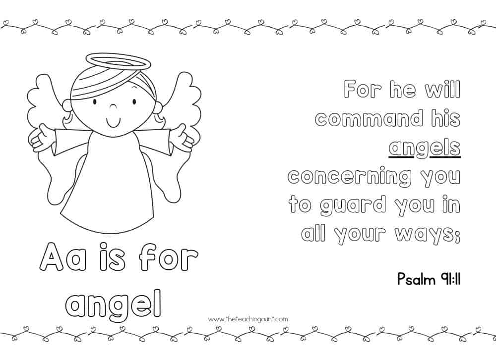 ABC Bible Verse Posters for Children from The Teaching Aunt