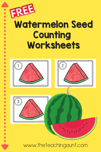 Watermelon Seed Counting Worksheets from The Teaching Aunt