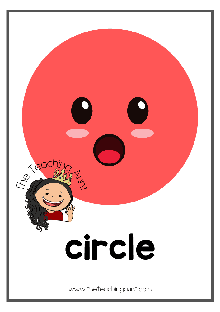 Circle- Free Shapes Flashcards PDF from The Teaching Aunt