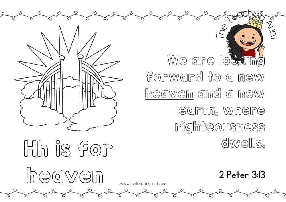 h for heaven Free Alphabet Bible Verse Posters from The Teaching Aunt