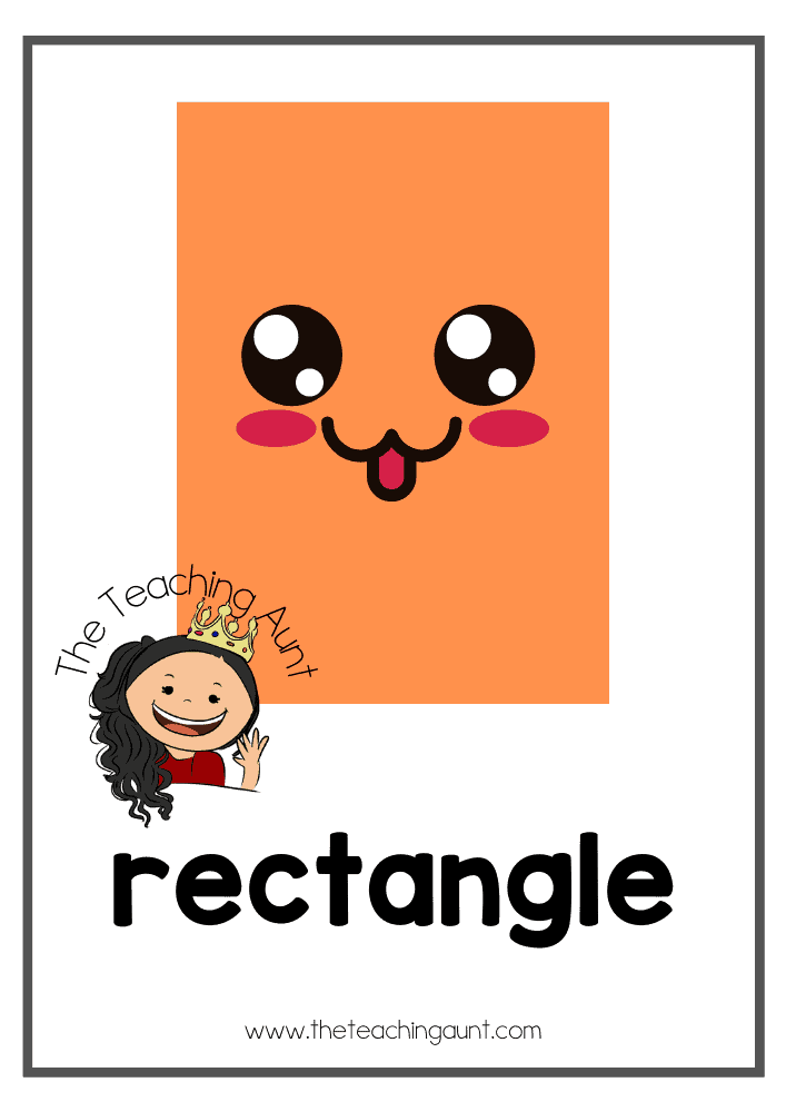 Rectangle- Free Shapes Flashcards PDF from The Teaching Aunt