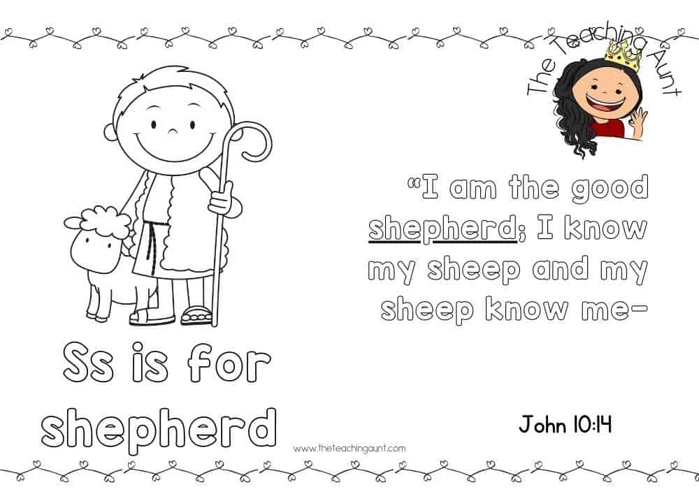 s for shepherd Free Alphabet Bible Verse Posters from The Teaching Aunt