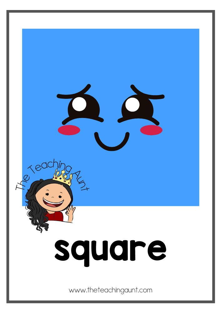 Square- Free Shapes Flashcards PDF from The Teaching Aunt