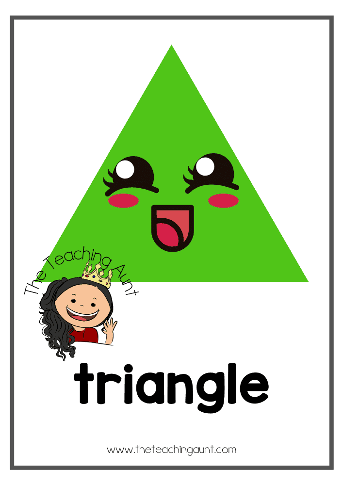 Triangle- Free Shapes Flashcards PDF from The Teaching Aunt