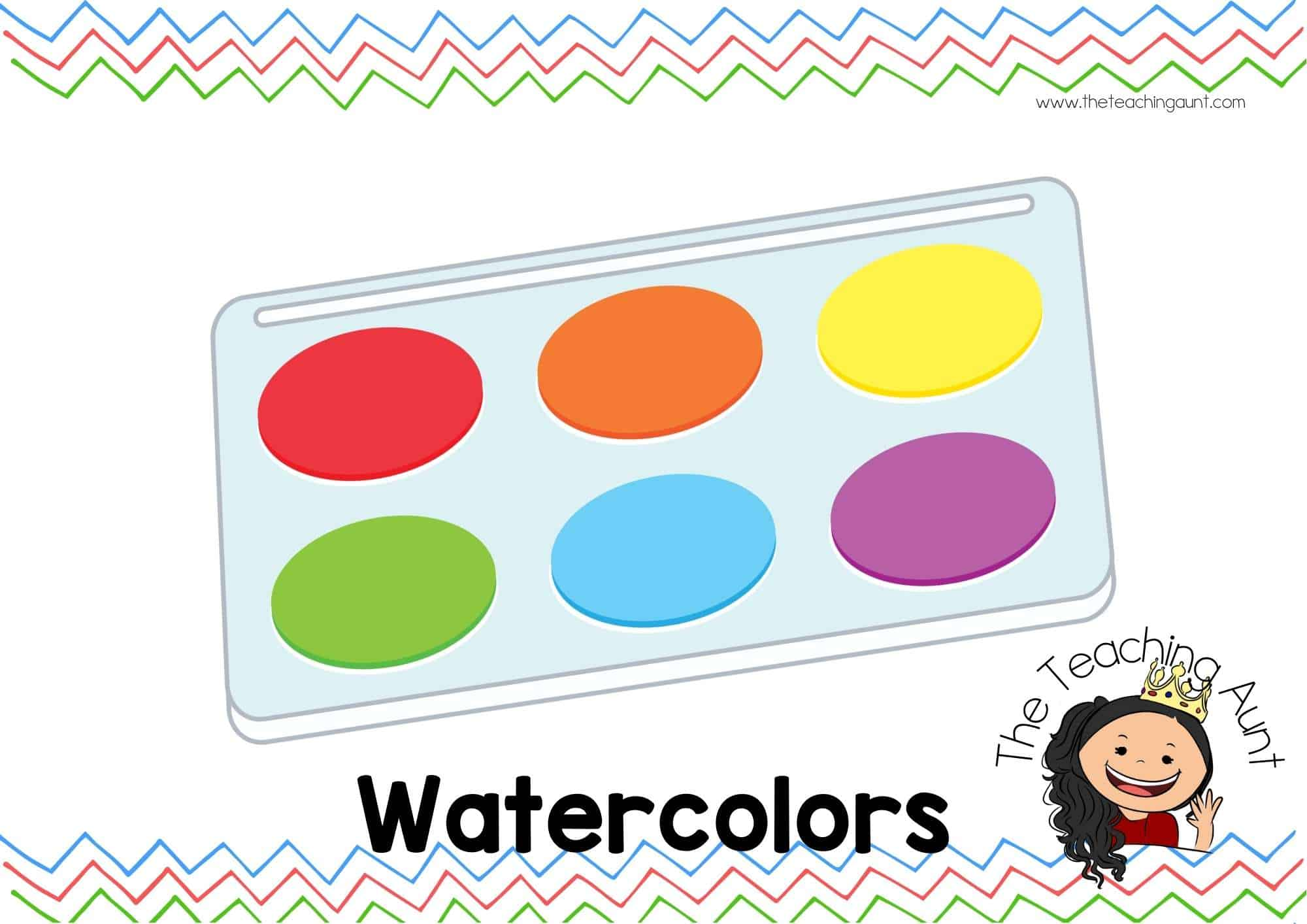 Free Classroom Supply Labels for Preschool