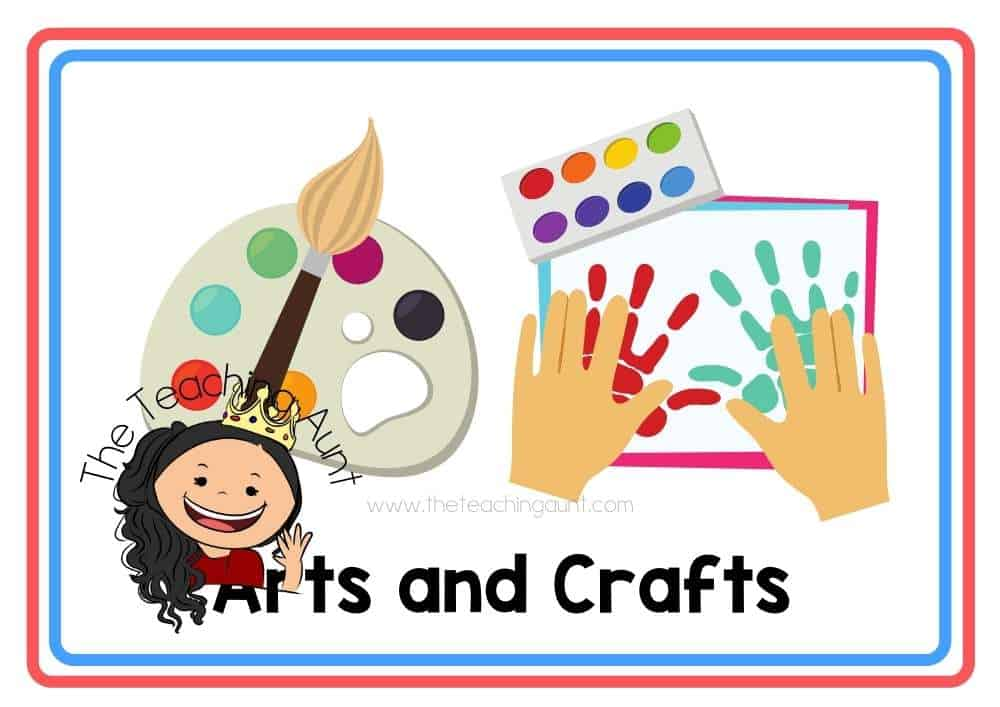 (Arts and Crafts) Subjects Flashcards Free Printable from The Teaching Aunt