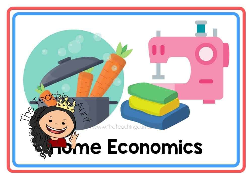 (Home Economics) Subjects Flashcards Free Printable from The Teaching Aunt