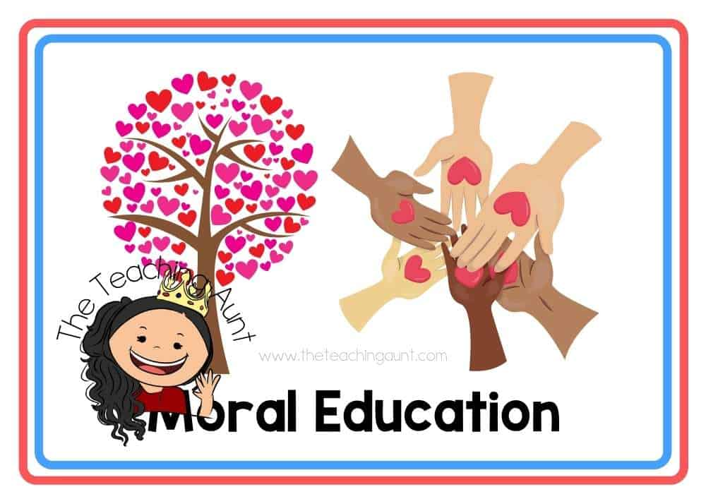 (Moral Education) Subjects Flashcards Free Printable from The Teaching Aunt