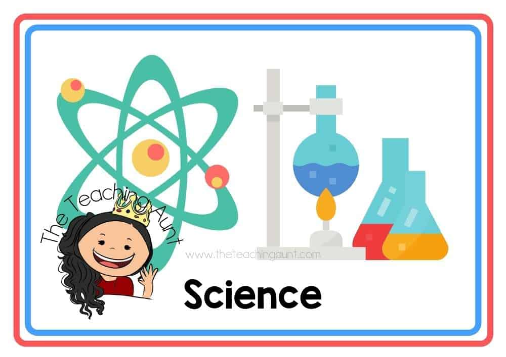 (Science) Subjects Flashcards Free Printable from The Teaching Aunt