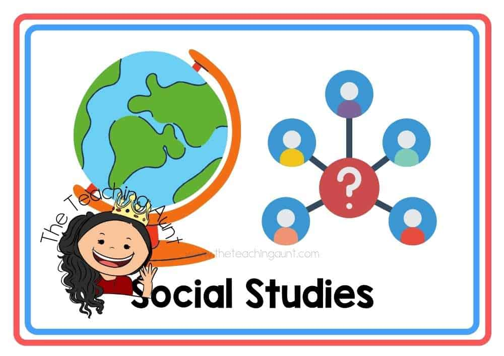 (Social Studies) Subjects Flashcards Free Printable from The Teaching Aunt