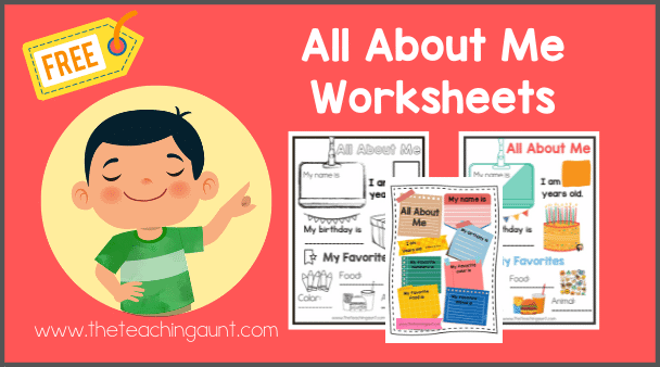 All About Me Worksheets Free Printable from The Teaching Aunt