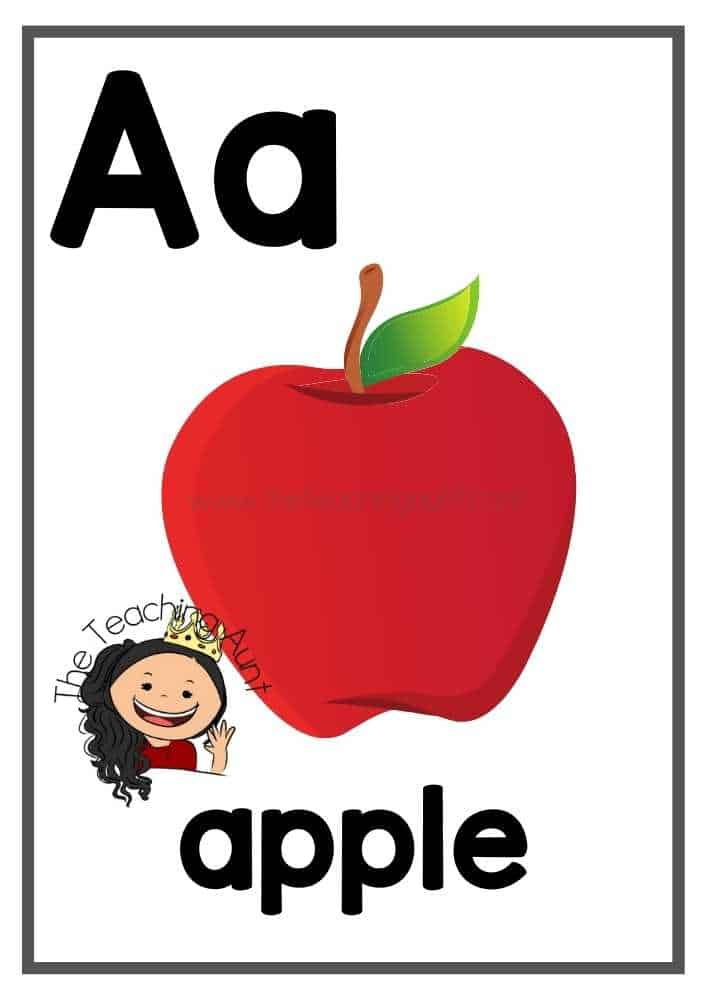 Canada-Themed Alphabet Flashcards Free Printable from The Teaching Aunt